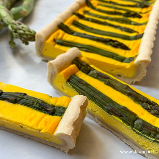 Torta salata agli asparagi e Zafferano 3 Cuochi