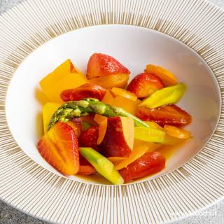 Composta di frutta e verdura con salsa di ananas allo Zafferano3 Cuochi