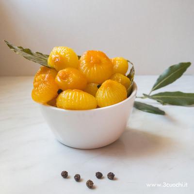 Cipolline in agrodolce con Zafferano 3 Cuochi