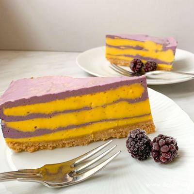 Cheesecake alle more e Zafferano 3 Cuochi