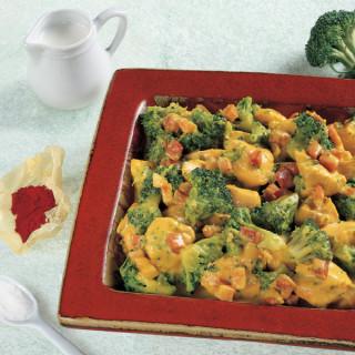 Bocconcini di Pollo Broccoli e Zafferano