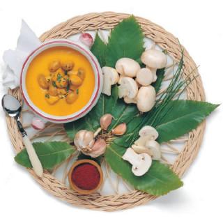 Funghi Champignon in crema allo Zafferano