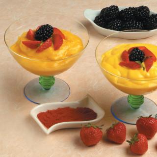 Crema e frutta allo zafferano