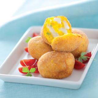 Crocchette di patate allo zafferano