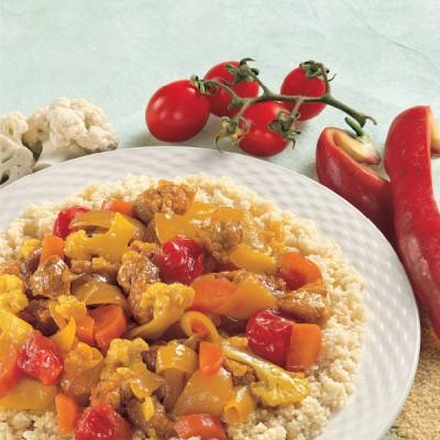 Cuscus con Vitello e verdure allo Zafferano