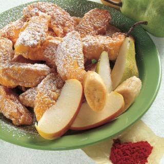 Fritto misto di frutta allo Zafferano