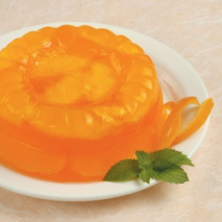 Gelatina all'arancia al profumo di menta e zafferano