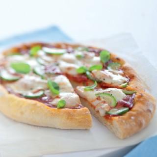 Pizza alle zucchine e zafferano