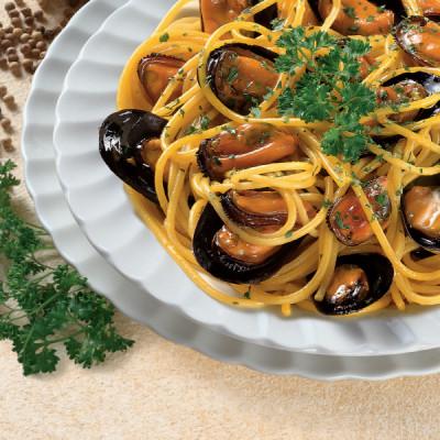 Spaghetti alle Cozze e Zafferano