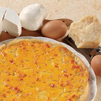 Torta Salata Ricotta, Mozzarella e Prosciutto