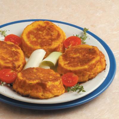 Tortini di patate e porri allo zafferano