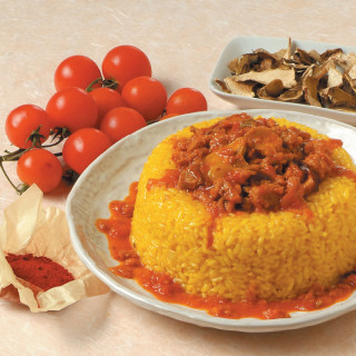 Tortini di riso funghi e salsiccia