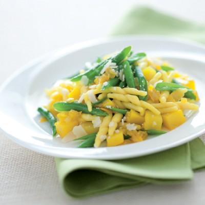 Trofie allo zafferano con patate e fagiolini
