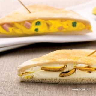 Toast fantasiosi farciti con champignon allo zafferano