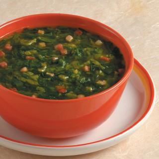Zuppa di lattuga e pancetta