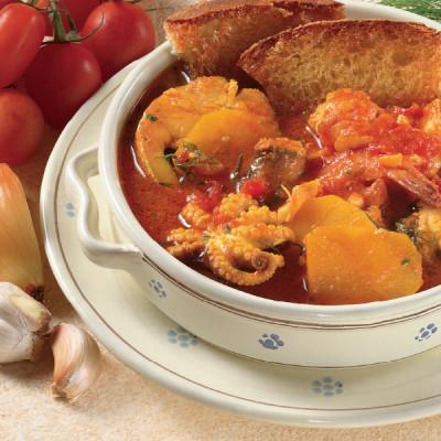 Zuppa di Pesce saporita allo Zafferano