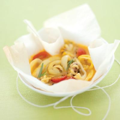 Zuppa di seppioline delicata allo zafferano